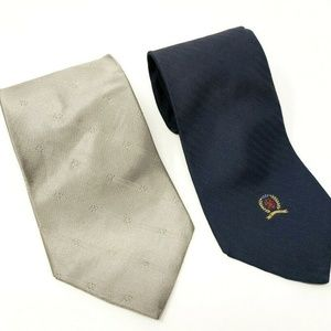 Tommy Hilfiger Mens Ties Lot of Two Silk Flawed